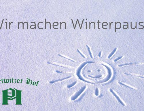Winterpause im Restaurant bis zum 29.03.2019