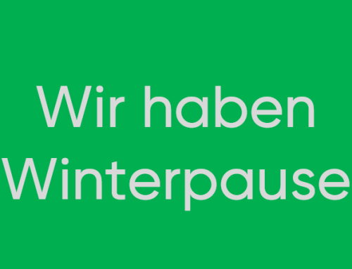 Das Restaurant hat Winterpause